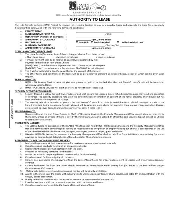 condominium leasing services agreement form