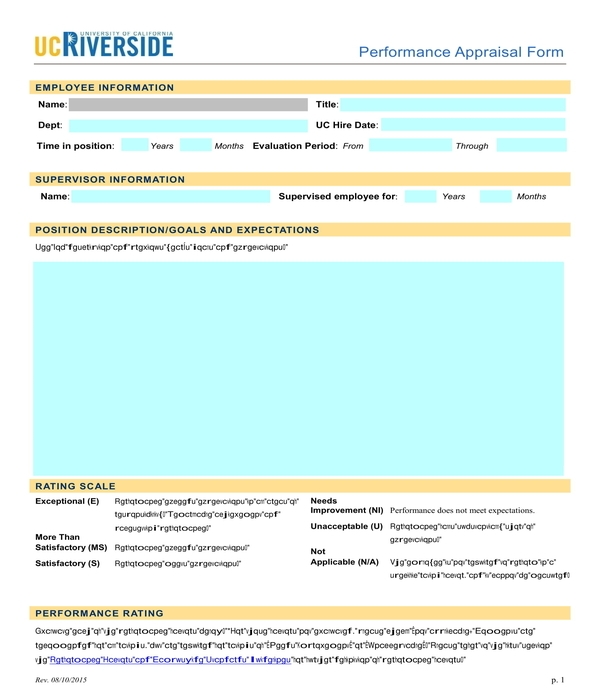 performance appraisal form in pdf