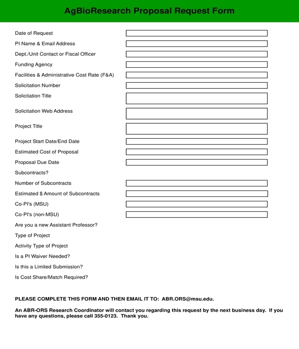 proposal request form