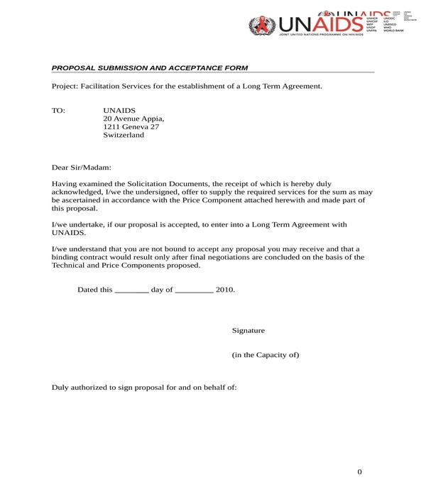 proposal submission and acceptance form