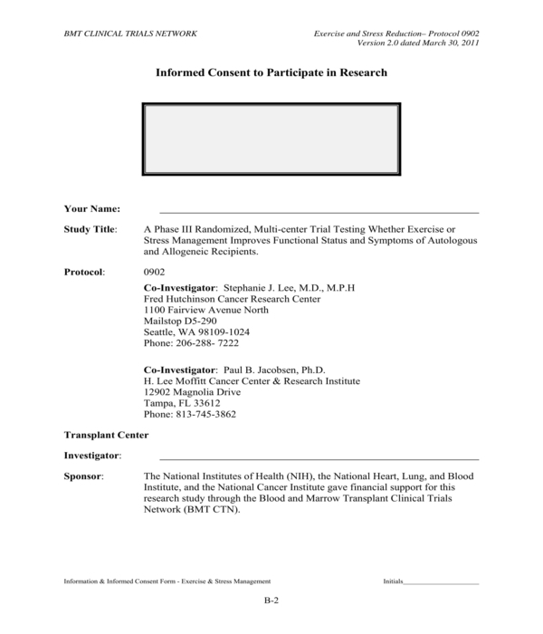 research participation informed consent form
