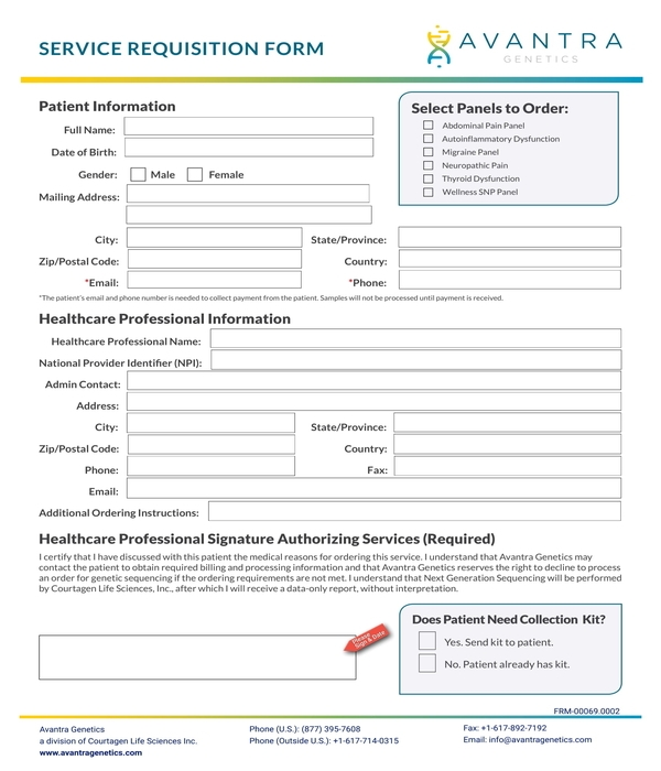 service requisition form