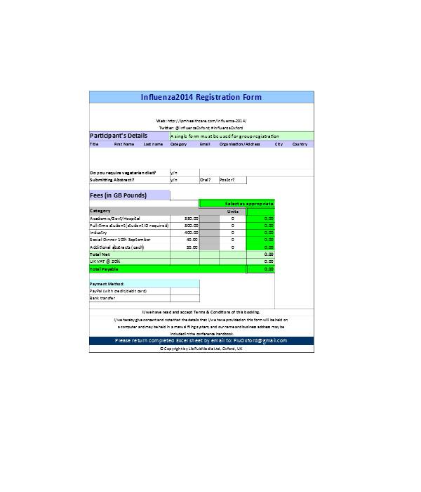 student details registration form