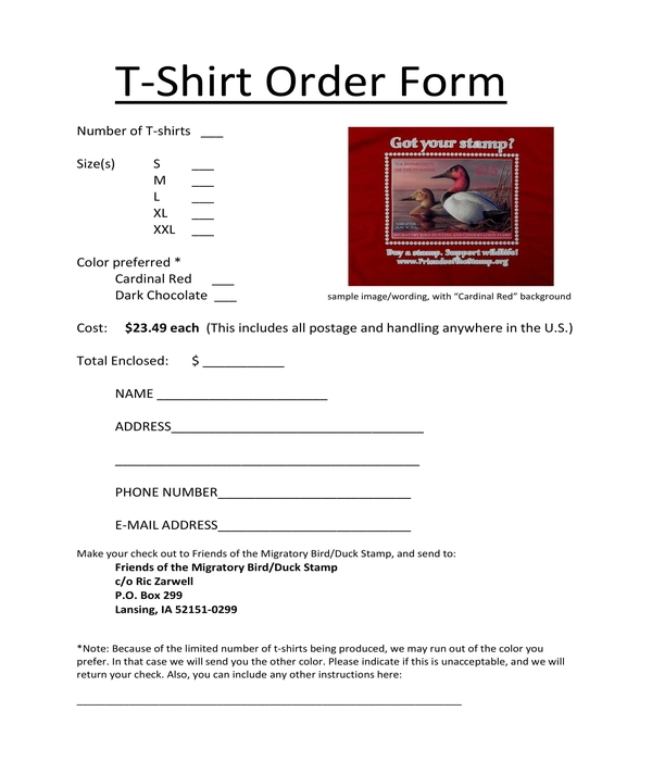 t shirt order form in pdf