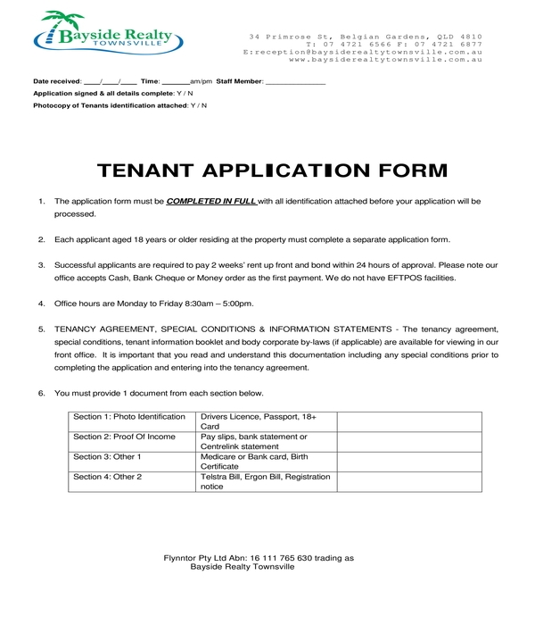 tenant application form in pdf