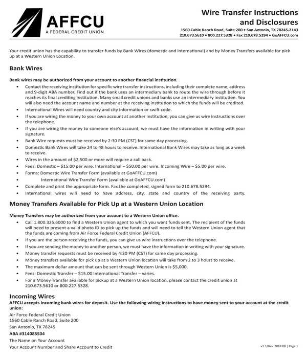 Admirable 8 Wire Transfer Instruction Forms Pdf Wiring 101 Photwellnesstrialsorg