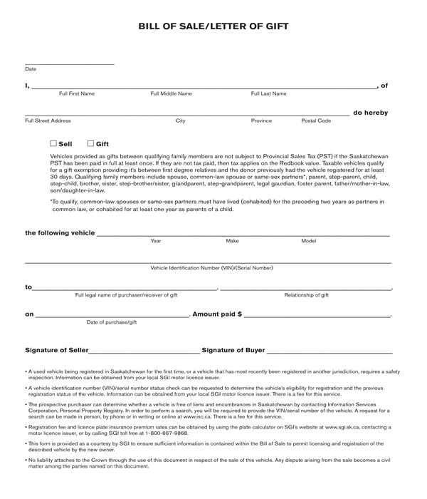 general personal property bill of sale sample