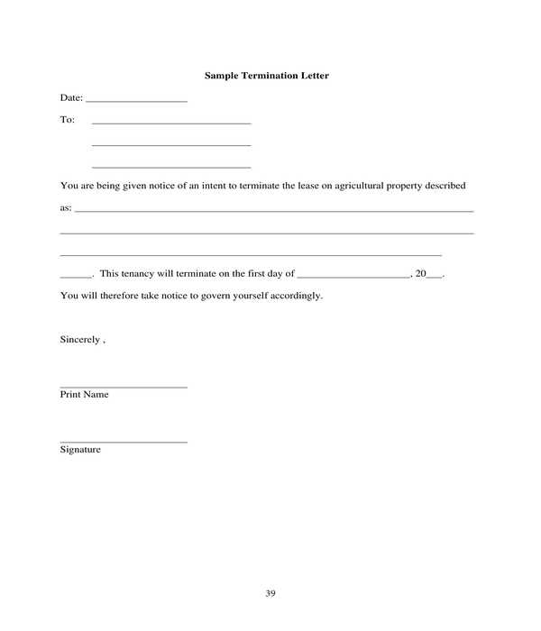 Sample Letter Termination Of Lease from images.sampleforms.com
