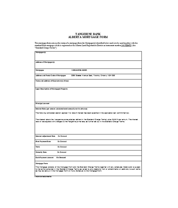 bank mortgage release form
