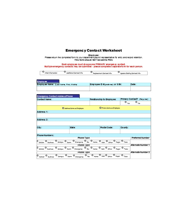 employee emergency contact information form1