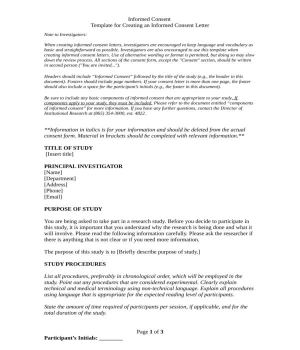 informed consent form template in doc