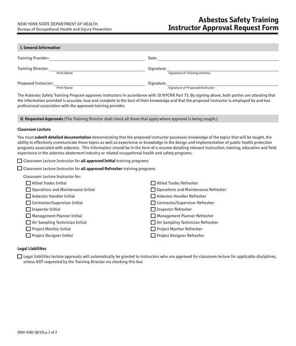 instructor approval request form