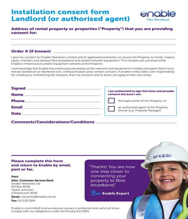 landlord installation consent form