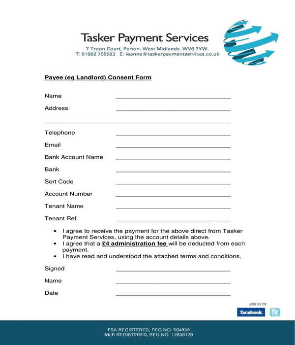 landlord payee consent form