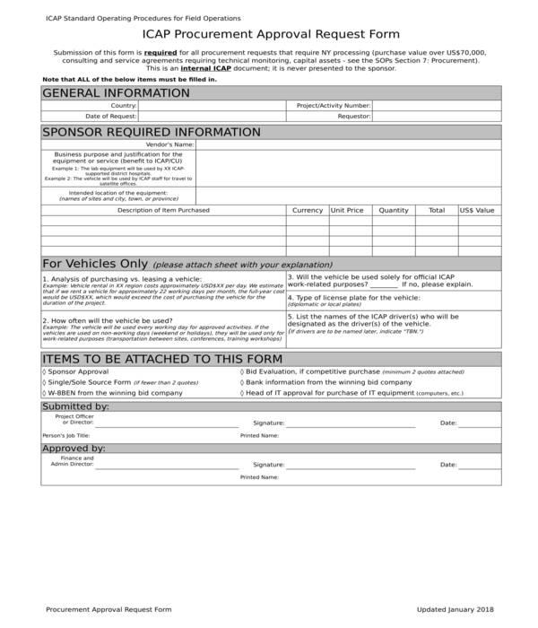 procurement approval request form