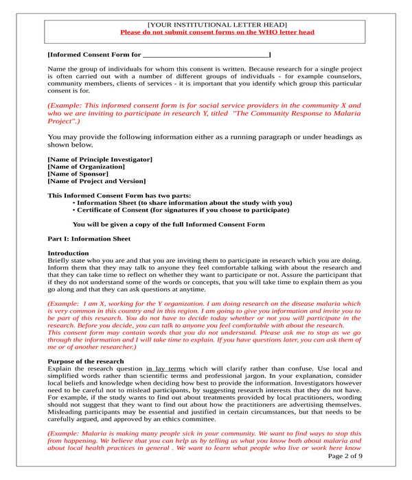 qualitative studies informed consent form