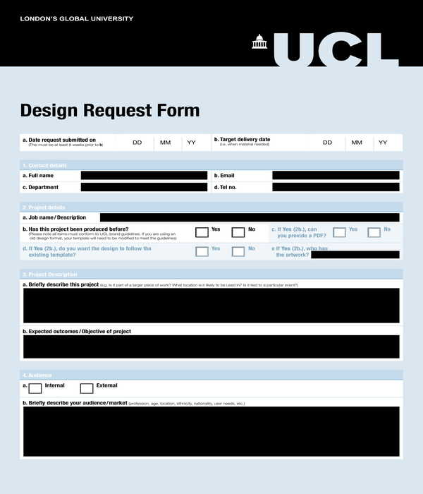 website design request form sample