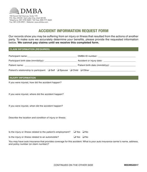 accident information request form