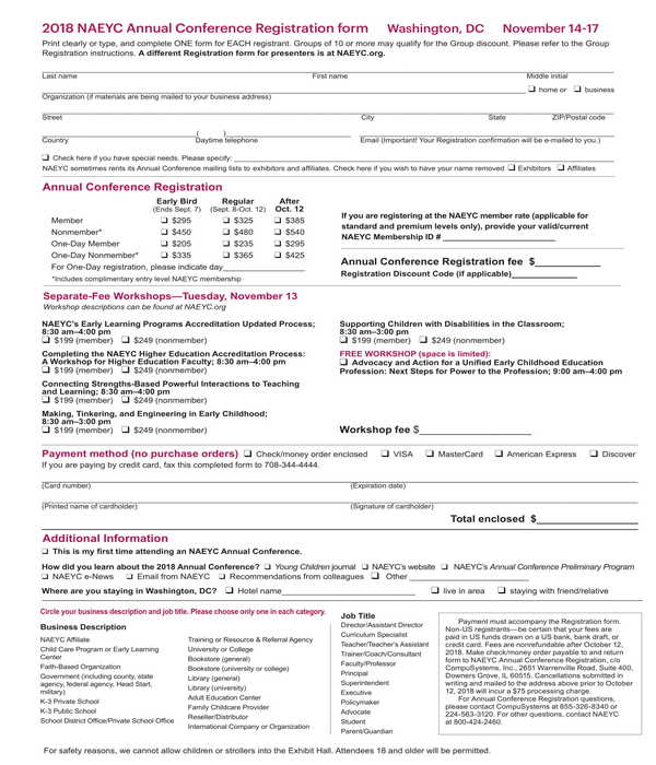 annual conference registration form