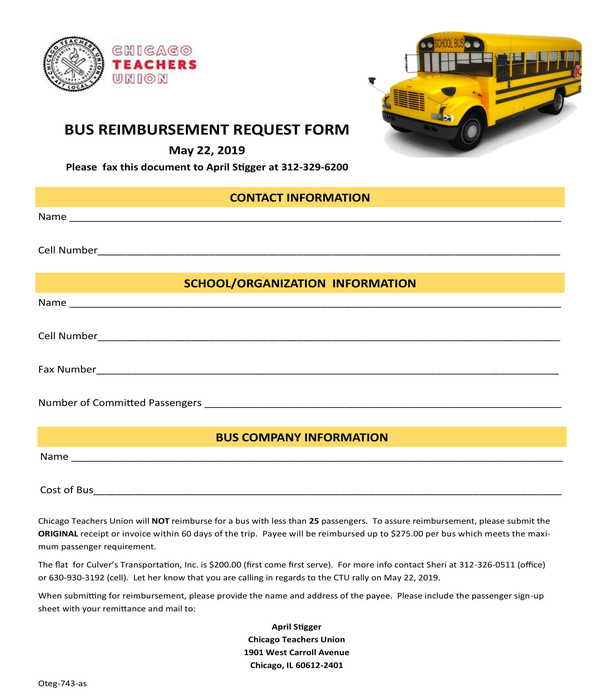 bus reimbursement request form