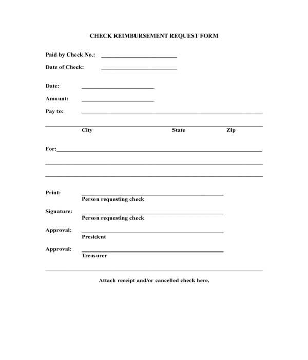 check reimbursement request form