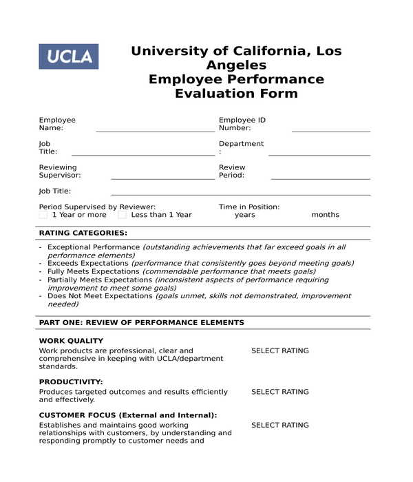 employee evaluation form in doc
