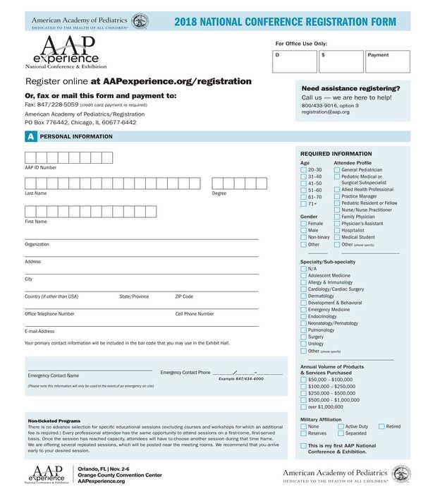 national conference registration form