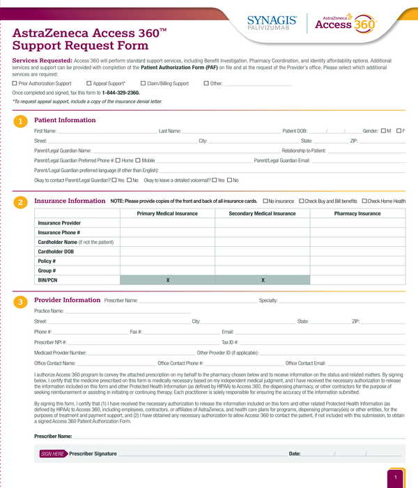 support request form sample