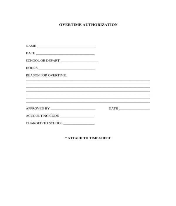 custodial overtime authorization form