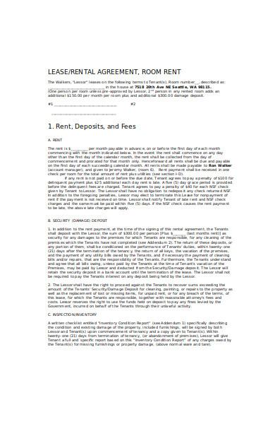 basic lease agreement