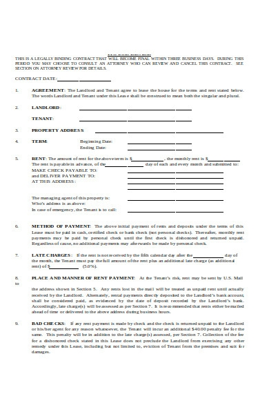 basic month to month lease addendum form