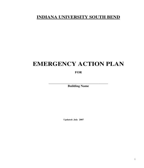 building emergency action plan form template