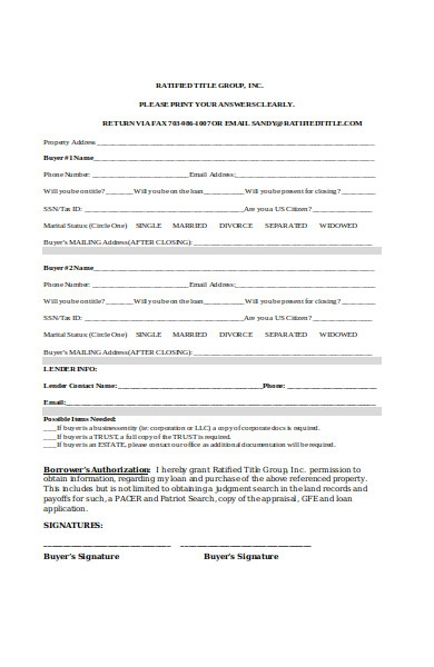 buyer information form example1