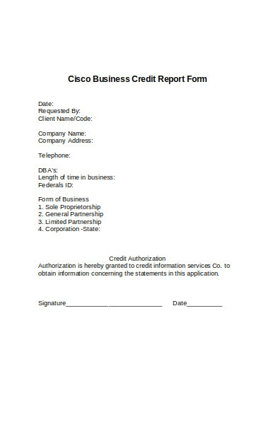 cisco business credit report