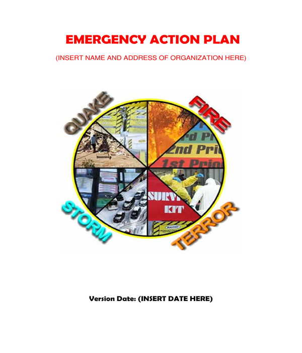 creative emergency action plan form template