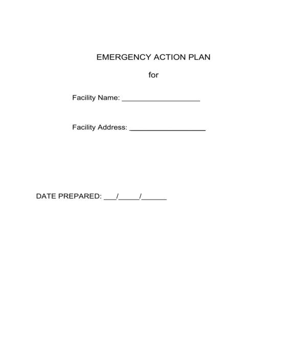 emergency action plan form template in pdf