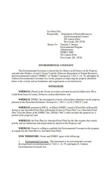 environmental covenant