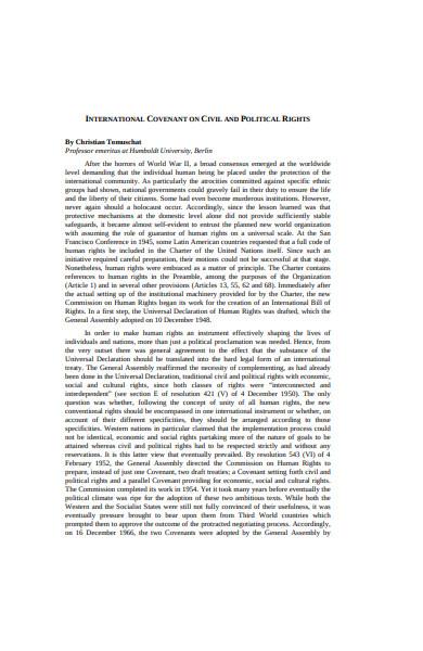 international covenant on civil