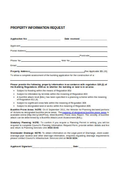 property listing information form