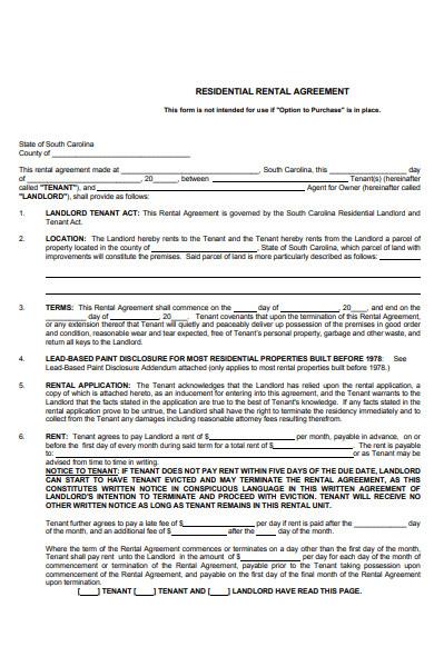 residental rental agreement1