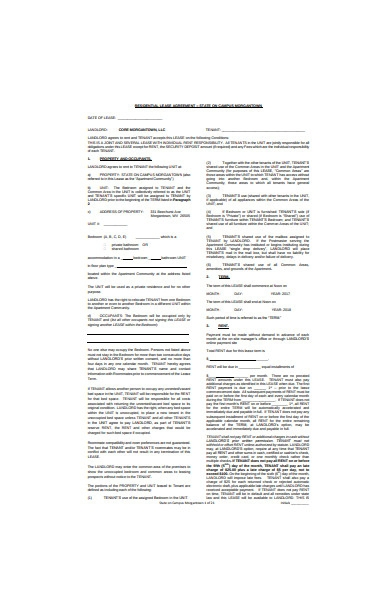 residential joint lease agreement