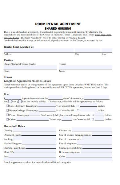 room rent agreement