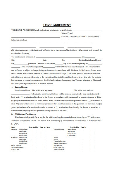 sample joint lease agreement