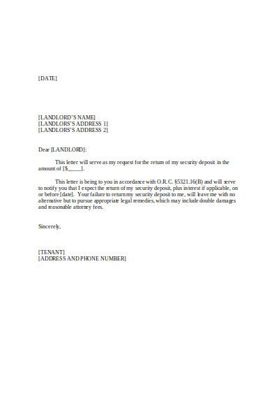 Security Deposit Damages Letter from images.sampleforms.com