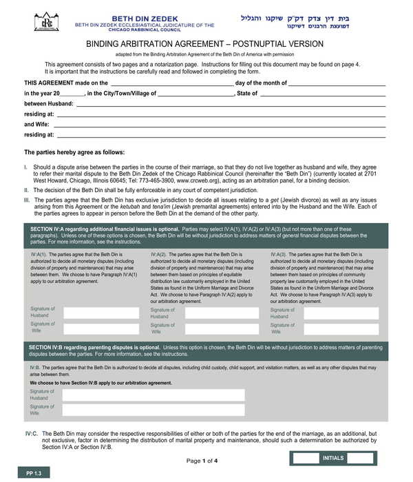 5+ Free Postnuptial Agreement Forms