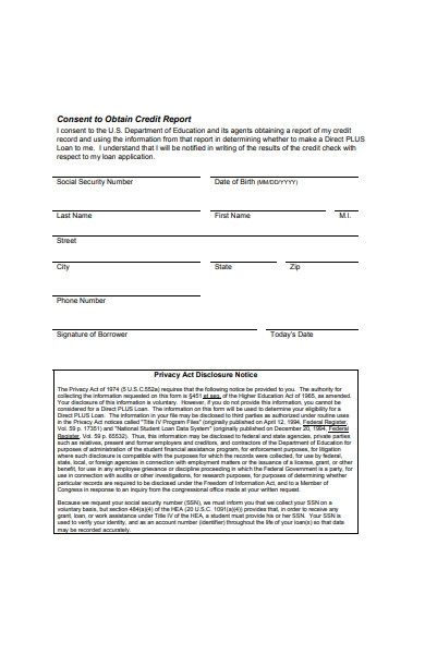 sample business credit check form