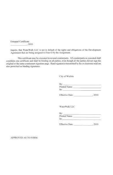 sample estoppel certificate addendum