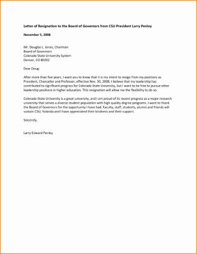 Academic Letter Of Resignation from images.sampleforms.com