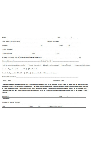 simple tenant background check form