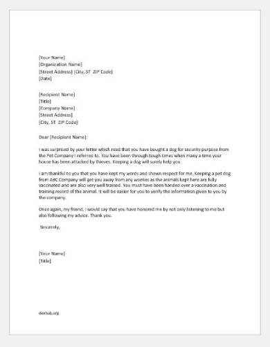thank you letter for recommendation template1
